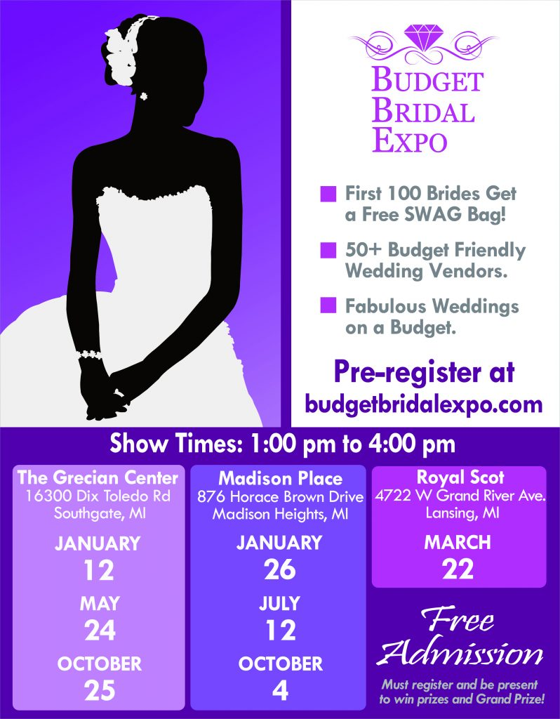 Budget Bridal Expo, January 26, 2020, Madison Place in Madison Heights, MI